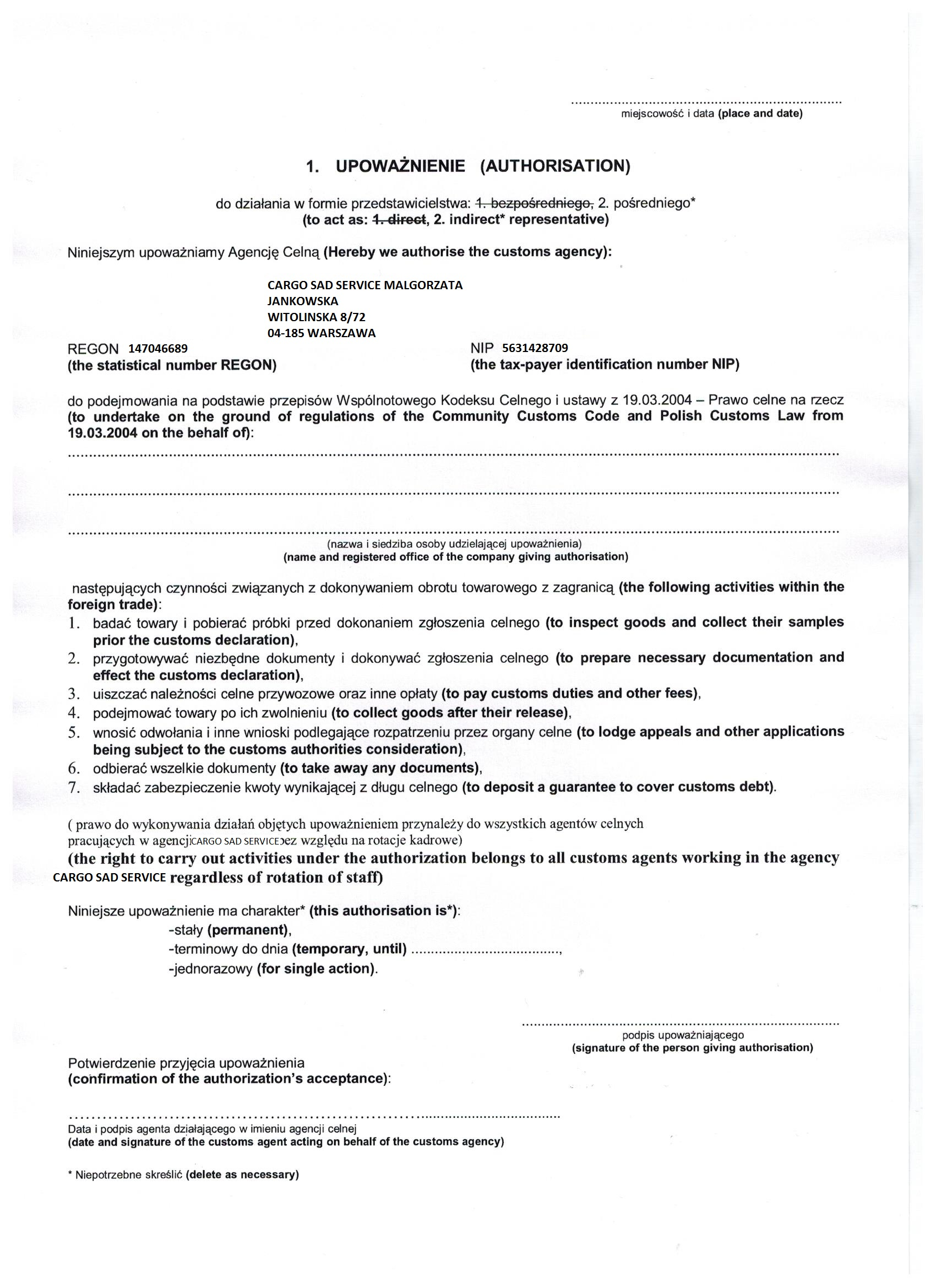 EDID International - Forms to download